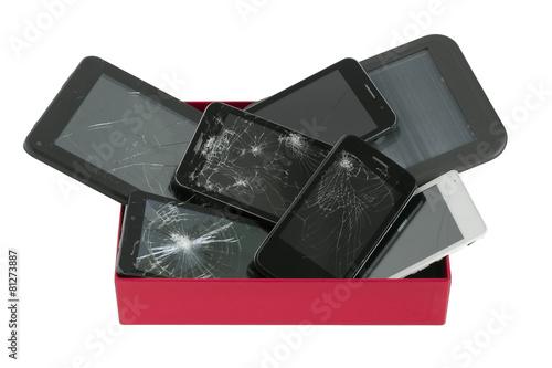 Broken gadgets in red box Poster