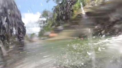 ELLA, SRI LANKA - MARCH 2014: Slow motion of beautiful waterfall and nature.