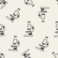 Doodle Microscope seamless pattern background