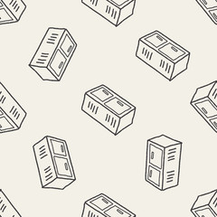 locker doodle seamless pattern background