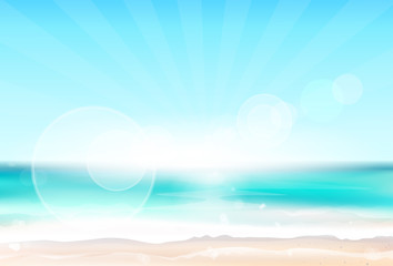 Abstract Colorful Sky Sea Blur Horizon Background