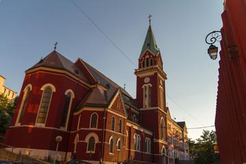 Franciscan church steeple detail