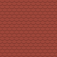 Beaver tail tile, red - seamless tileable