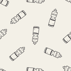 doodle energy drink seamless pattern background