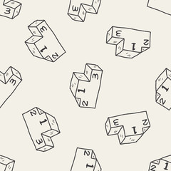 Doodle Podium seamless pattern background