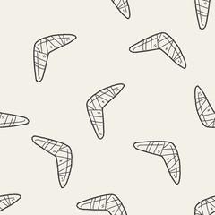 boomerang doodle seamless pattern background