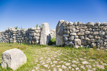 Hattusa, Turkey. Gate of the fortress