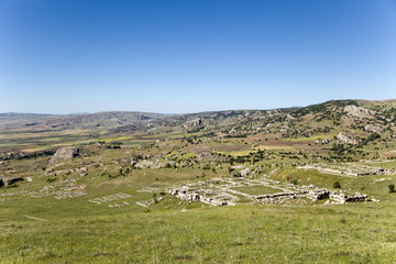 Hattusa. Scenic landscape with archaeological zone