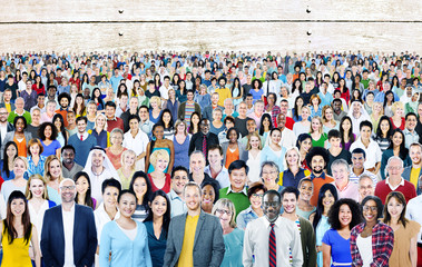 Large Group Diverse Multiethnic Cheerful Concept