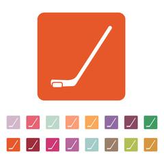 Hockey icon. Game symbol. Flat