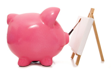 painting your future piggy bank