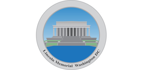 Lincoln Memorial, Washington DC. USA. Vector illustration.