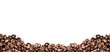 canvas print picture - coffee beans white background
