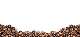 coffee beans white background poster