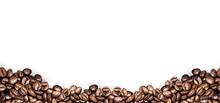 "Постер, картина, фотообои ""coffee beans white background"""