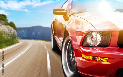 Red sport car - 81278409