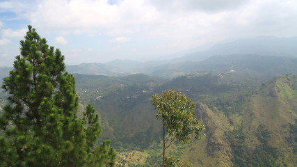 The view of landscape in Ella. Ella is a beautiful small sleepy town on the southern edge of Sri Lanka's Hill Country.