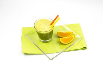 Matcha, green tea, orange