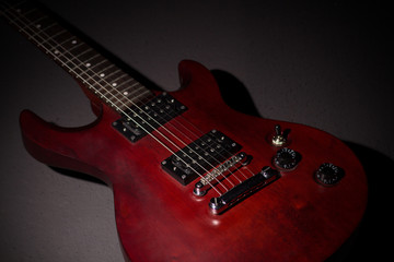 Electric guitar on a dark background
