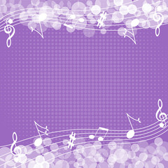 Music notes background-Vector illustration