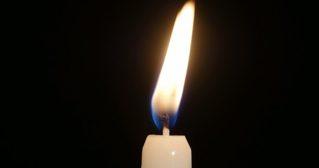 4K - Candle flame
