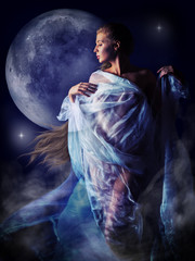 girl in the glow of the moon