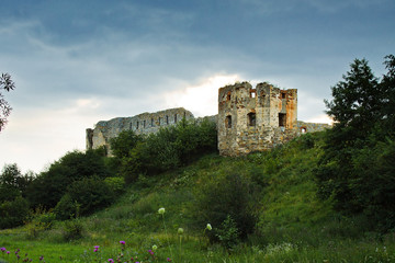 ruins of an old  Pniewski castle in Ukraine