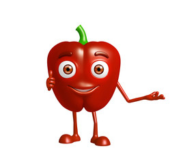 capsicum character with presentation pose