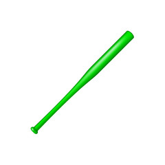 Baseball bat in green design