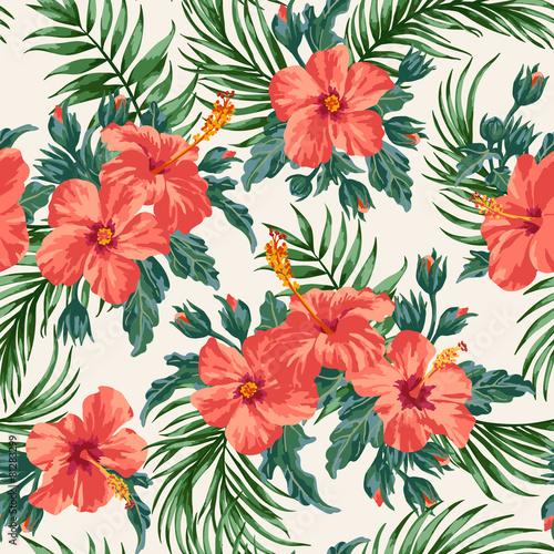 Fototapeta Seamless exotic pattern.