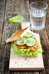 Healthy sandwich with vegetables