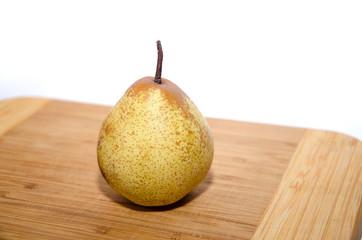 pear on wood board