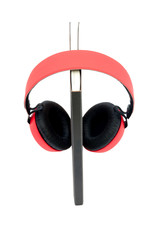 Red headphone wite diary