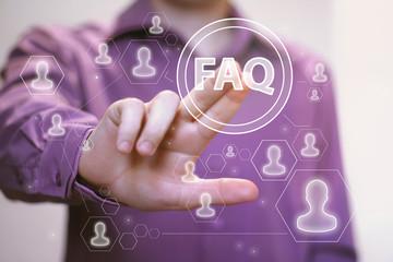 Business button FAQ connection web icon