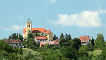 View of church on beautiful bright summer day