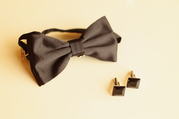Bow tie and buttons