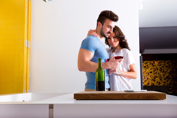 Wein in der Küche