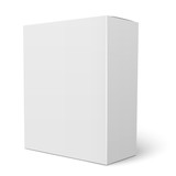 White vertical cardboard box template. - 81285402