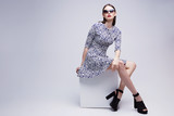 high fashion portrait of young elegant woman. Studio shot - 81285443