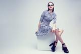 high fashion portrait of young elegant woman. Studio shot - 81285462