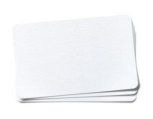 blank white paper on white background