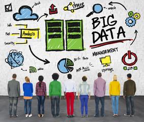 Ethnicity Cheerful Group Big Data Information Data Concept
