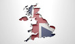 Recessed Country Map Britain - 81286030
