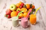 Fotoroleta frutta e frullati