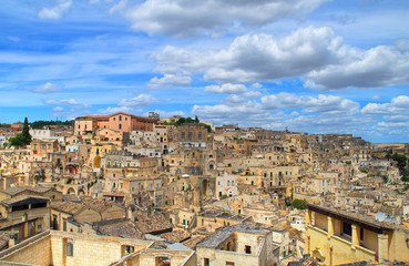 Panoramic view of Matera. Basilicata. Italy.