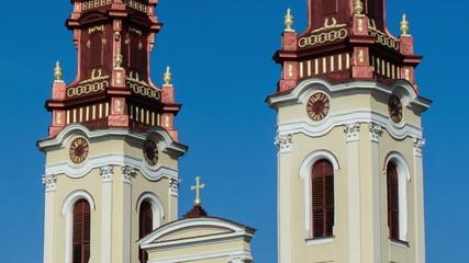 greek Catholic christian church Arad clocks stopped