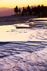 beautiful sunrise and Natural travertine pools and terraces, Pam
