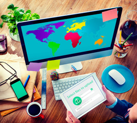 World Cartography Globalization Earth International Concept