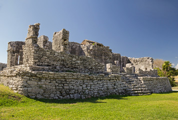 Temple of the Wind  in archaeological site Tulum, Mexico