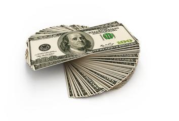 Stack of hundred dollars